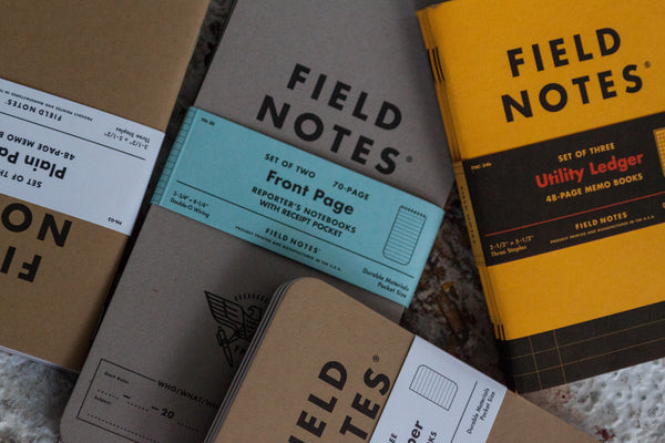 Field Notes Journals and Memo Books from Secret Lentil