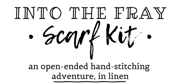 Secret Lentil Into The Fray Linen hand-stitching scarf kit