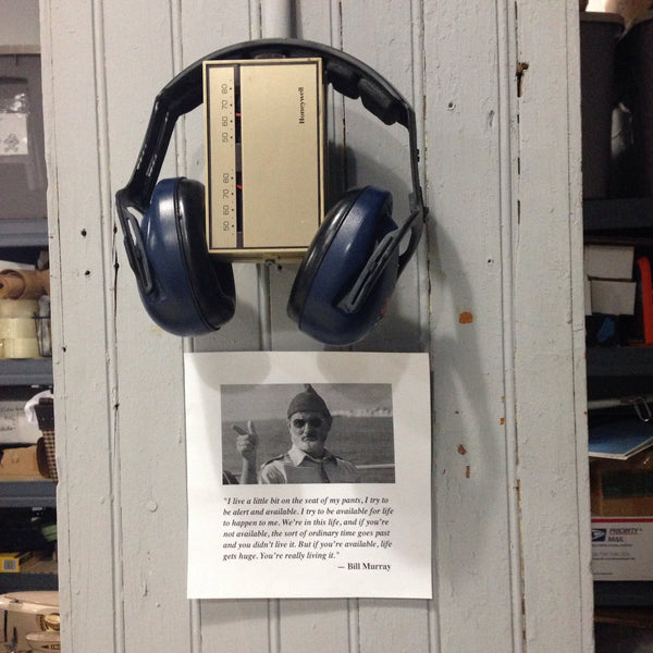 bill murray, headphones, thermostat