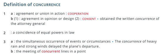 concurrence definition