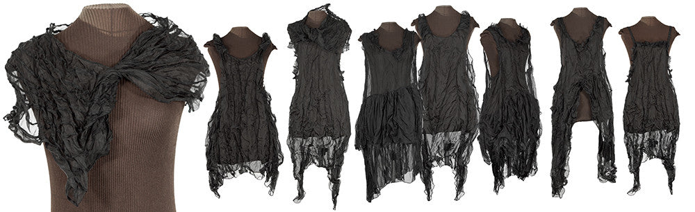 black silk slipdresses from secret lentil