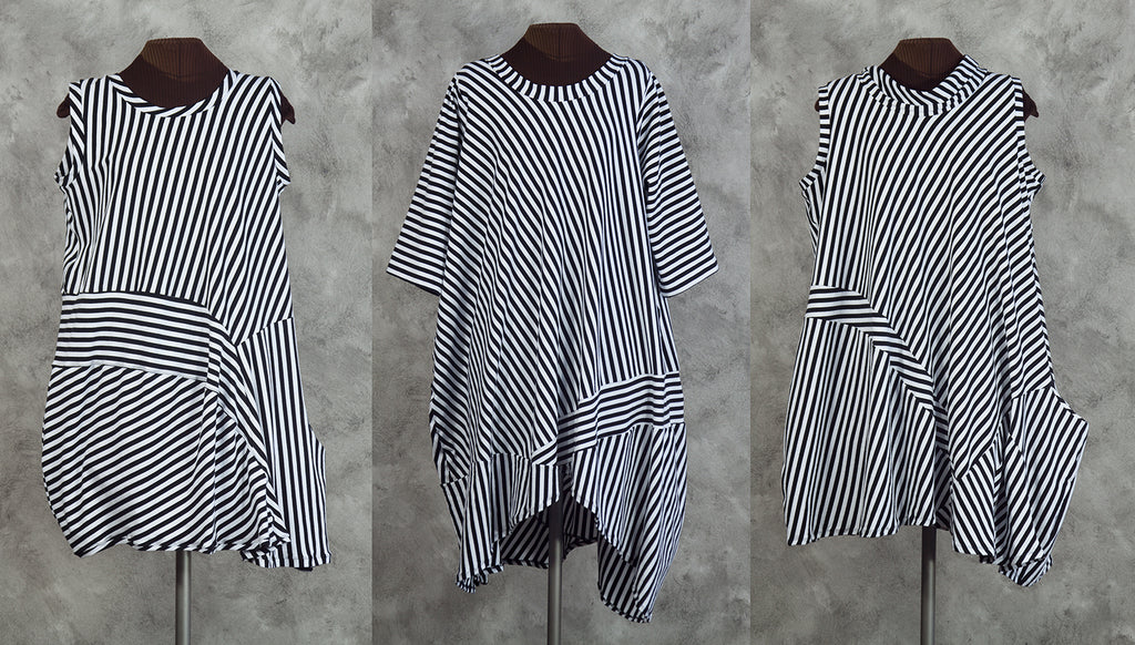 black and white striped dresses from secret lentil