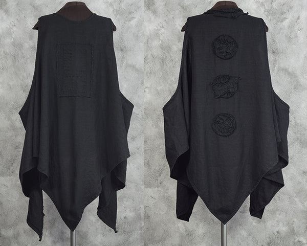 black linen lagenlook vests from secret lentil