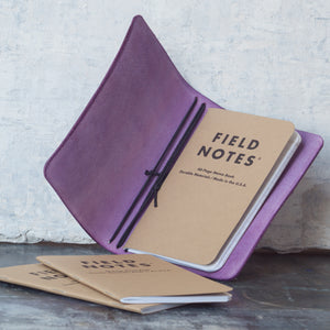 Purple Leather Field Notes / Pocket Size journal cover from secret lentil