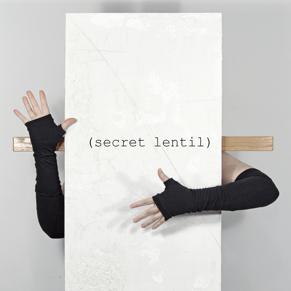 secret lentil black fingerless gloves
