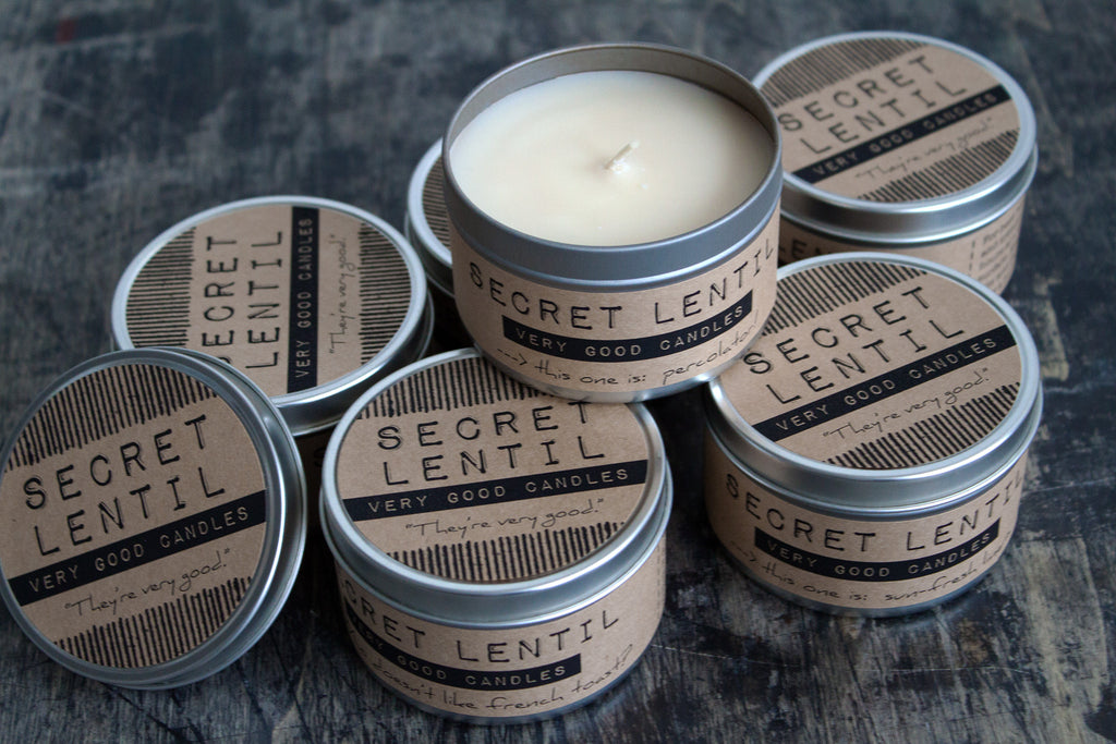 Secret Lentil soy wax Very Good Candles
