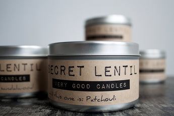 Patchouli Candle from Secret Lentil: Very Good Candles