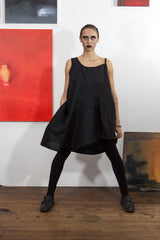Arcane Notions: Black Linen Party Dress from Secret Lentil