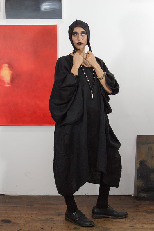 Arcane Notions: Black Linen Japan Jacket from Secret Lentil