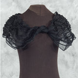 secret lentil black silk cowl collar