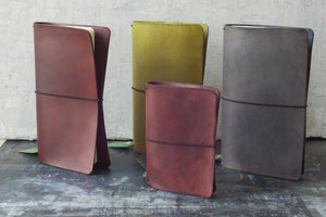 Tall Leather Journal Covers from Secret Lentil