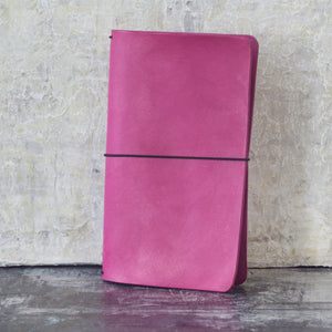 Fuchsia Pink Secret Lentil leather journal