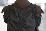 Enigma Variations: black linen scrunch-top
