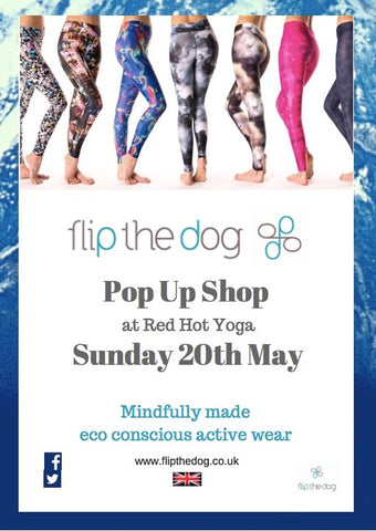 Flip the Dog is coming to Red Hot Yoga Guildford, Pop Up Shop 20 May 2018