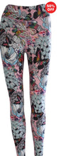 Load image into Gallery viewer, Pink butterfly floral print Flip the Dog fitness wear high waisted leggings