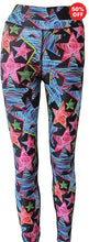 Load image into Gallery viewer, Multi colour star print high waisted fitness wear leggings  made from recycled plastics Flip the Dog