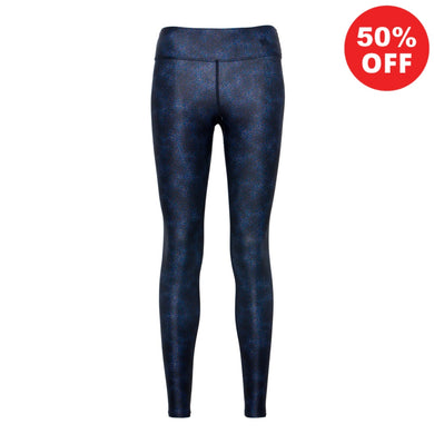 Dark blue eco fitness wear high waisted leggings by Flip the Dog