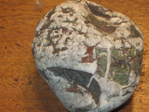 Green Red & White Deer Stone with Multiple Images