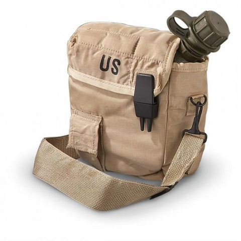 2 Quart Canteen/Cover Tan, New