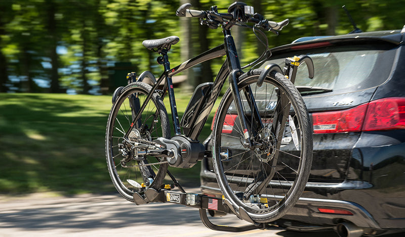 Automobile E-Bike Rack Hitch Carriers