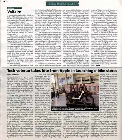Bicycle Retailer Voltaire Cycles Electric Spokes Co Franchises