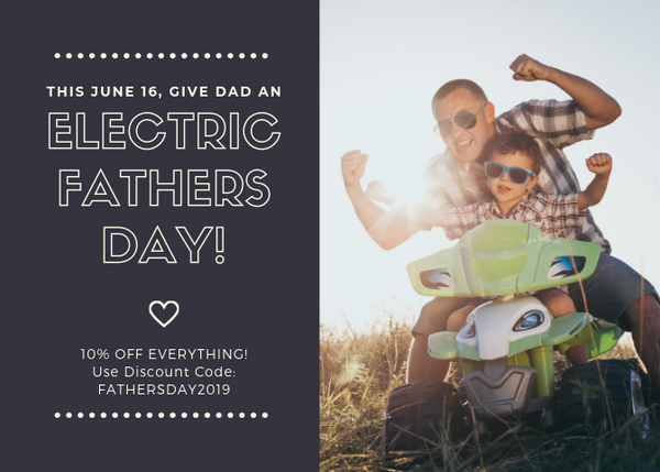 Father's Day Sale 10% at Electric Spokes Company