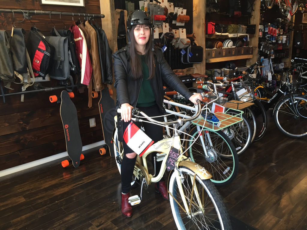 Electric Spokes customer on Cruiser