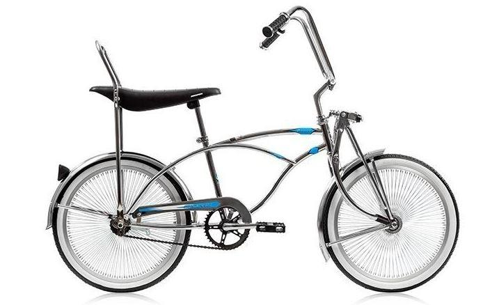 "20"" MBI Lowrider Beach Cruiser with 68 spokes MBI Prince Chrome for Boy-Basic Bicycles-The Electric Spokes Company-Voltaire Cycles of Verona"