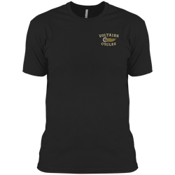 3600A Next Level Men's Made in USA Cotton T-Shirt-Apparel-CustomCat-Black-X-Small-Voltaire Cycles of Verona