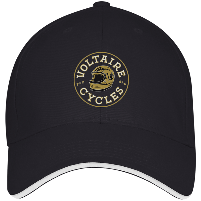 3621 Bayside USA Made Structured Twill Cap With Sandwich Visor-Apparel-CustomCat-Voltaire Cycles of Verona