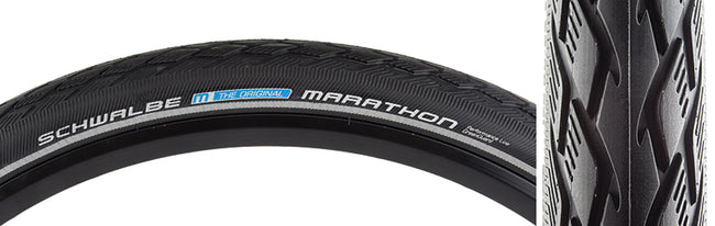 "Schwalbe Marathon Performance Twin GreenGuard 16"" x 1.35""-Bicycle Tires-Schwalbe-Voltaire Cycles of Verona"