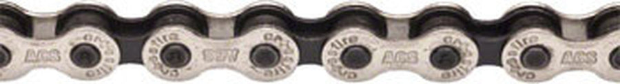 "ACS Crossfire Chain, 1/2"" Silver / Black-Bicycle Chains-ACS-1/2 x 1/8""x106-Voltaire Cycles of Verona"