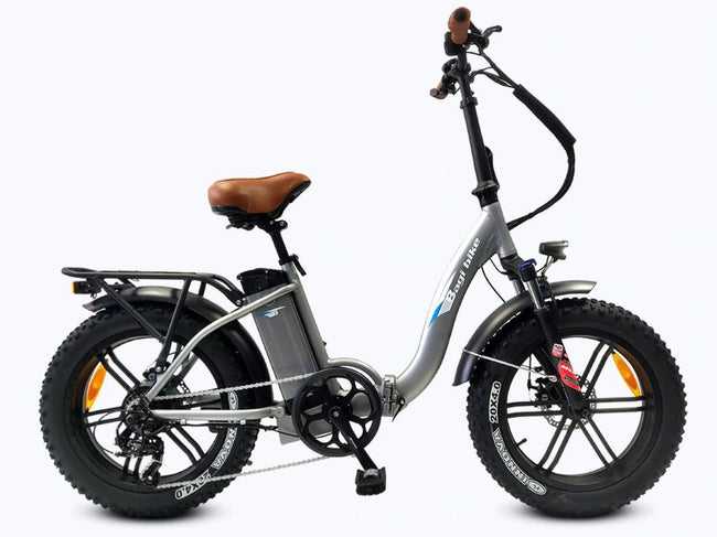 Bagi Bike B10 Bold Fat Tire - Folding E-Bike-Electric Bicycle-Bagibike-Space Gray-Voltaire Cycles of Verona