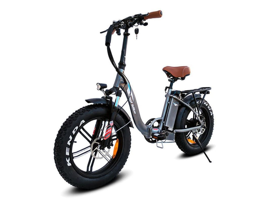 Bagi Bike B10 Fat Tire - Folding E-Bike-Electric Bicycle-Bagibike-Flat Black-Voltaire Cycles of Verona