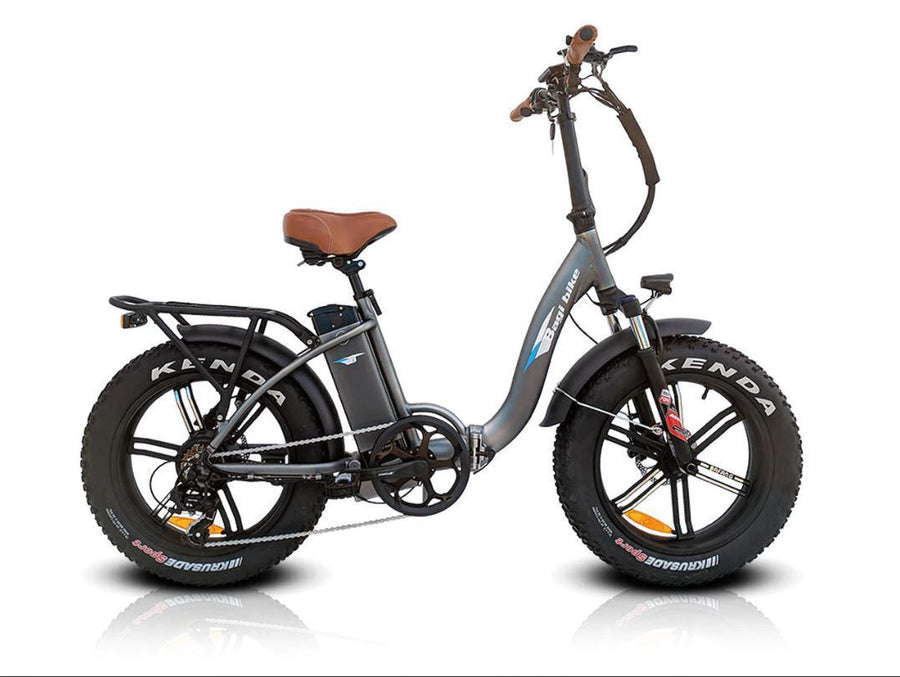 Bagi Bike B10 Fat Tire - Folding E-Bike-Electric Bicycle-Bagibike-Space Gray-Voltaire Cycles of Verona
