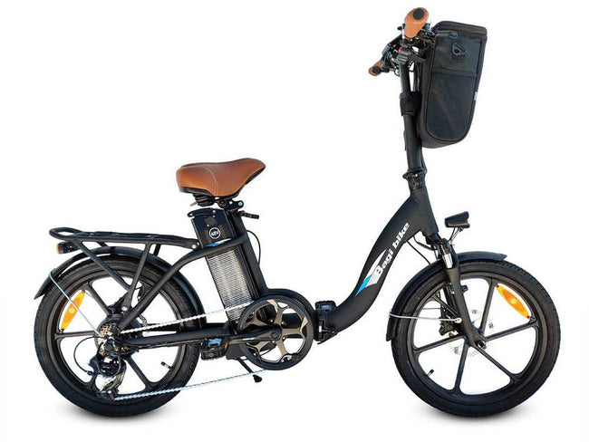 Bagi Bike B10 Street - Folding E-Bike-Electric Bicycle-Bagibike-Flat Black-Voltaire Cycles of Verona