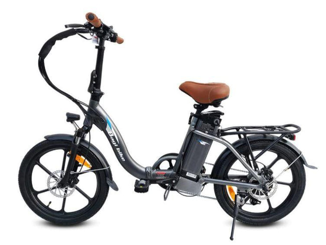 Bagi Bike B10 Street ST - Folding E-Bike-Electric Bicycle-Bagibike-Flat Black-Voltaire Cycles of Verona