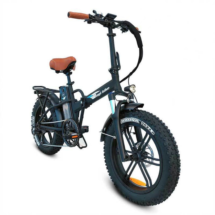 Bagi Bike B20 Hero - Fat Tire Folding E-Bike-Electric Bicycle-Bagibike-Flat Black-Voltaire Cycles of Verona