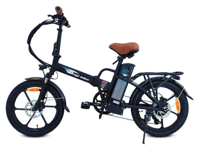 Bagi Bike B20 Street TRX - Folding E-Bike-Electric Bicycle-Bagibike-Flat Black-Voltaire Cycles of Verona