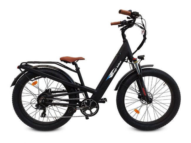 Bagi Bike B26 Fat Tire Cruiser E-Bike-Electric Bicycle-Bagibike-Flat Black-Voltaire Cycles of Verona