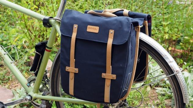 Basil Portland Double Bag Bicycle Panniers-Bicycle Panniers-Basil-Voltaire Cycles of Verona