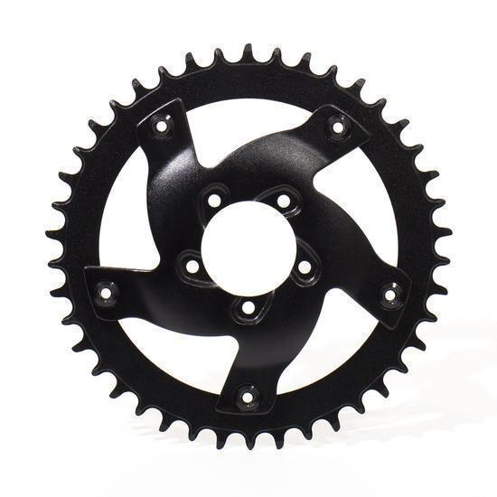 BBSHD Aluminum Chainring Adapter and 42T Sprocket-E-Bike Parts-LunaCycle-Voltaire Cycles of Verona