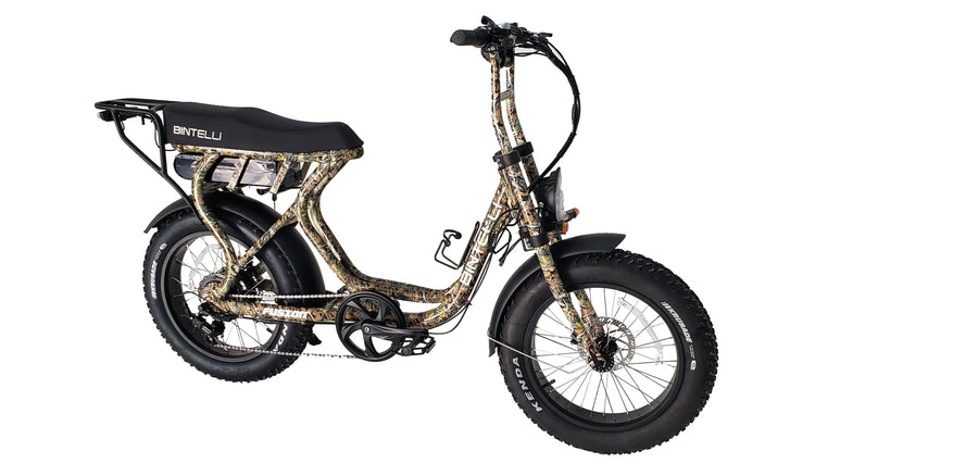 Bintelli Fusion Electric Bike Scooter - In Stock Now!-Electric Bicycle-Bintelli-Camo-Voltaire Cycles of Verona
