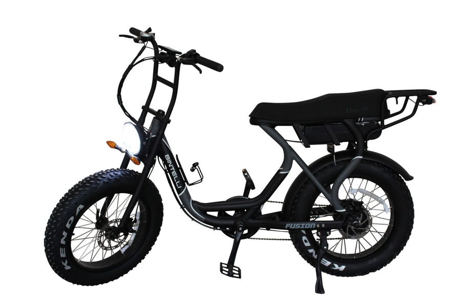 Bintelli Fusion Electric Bike Scooter - In Stock Now!-Electric Bicycle-Bintelli-Charcoal-Voltaire Cycles of Verona