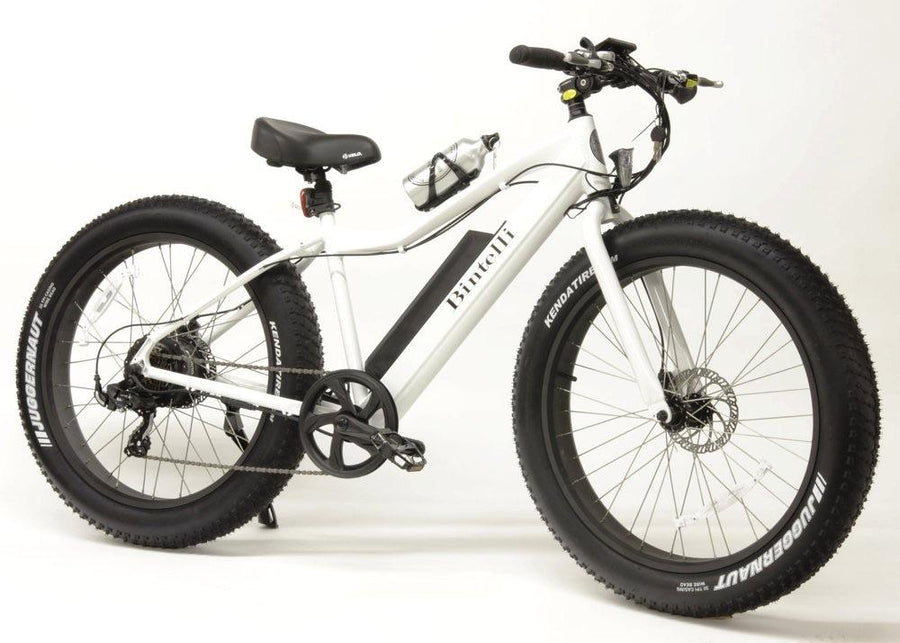 Bintelli M1 Electric Fat Bike-Electric Bicycle-Bintelli-White-Voltaire Cycles of Verona