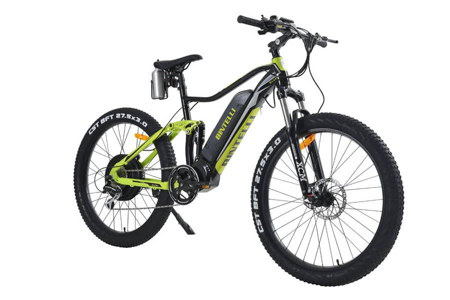 Bintelli Quest - Fast Electric Bike-Electric Bicycle-Bintelli-Black/Green-Voltaire Cycles of Verona