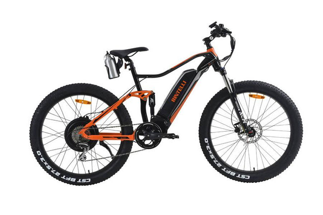 Bintelli Quest - Fast Electric Bike-Electric Bicycle-Bintelli-Black/Orange-Voltaire Cycles of Verona