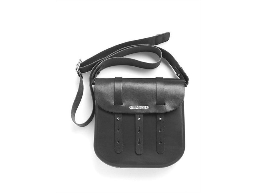 Brooks B3 Leather Bicycle Messenger Bag-Bicycle Panniers-Brooks England-Black-Voltaire Cycles of Verona