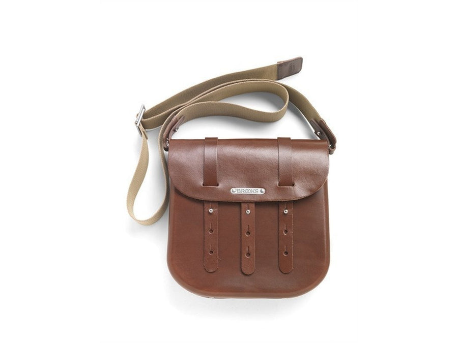 Brooks B3 Leather Bicycle Messenger Bag-Bicycle Panniers-Brooks England-Brown-Voltaire Cycles of Verona