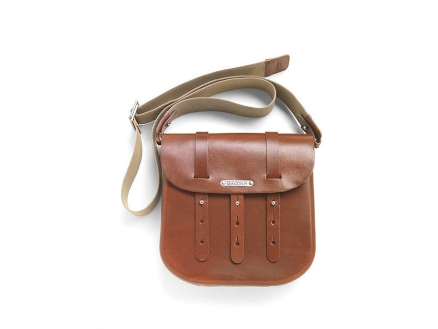 Brooks B3 Leather Bicycle Messenger Bag-Bicycle Panniers-Brooks England-Honey-Voltaire Cycles of Verona